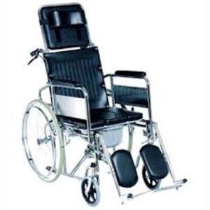 RECLINE COMMODE WHEELCHAIR