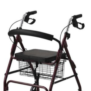 ROLLATOR WALKER WITH SEAT & BASKET