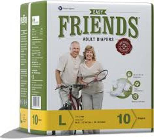 FRIENDS ADULT DIAPERS EASY PACKS 10 PCS LARGE