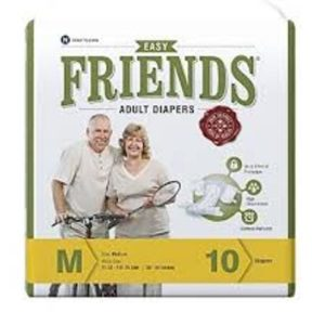 FRIENDS ADULT DIAPERS EASY PACKS 10 PCS MEDIUM