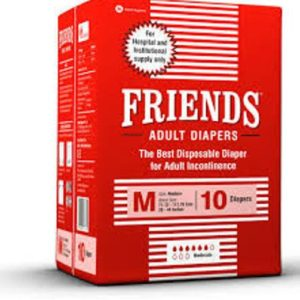 FRIENDS ADULT DIAPERS HOSPITAL PACKS 10 PCS MEDIUM