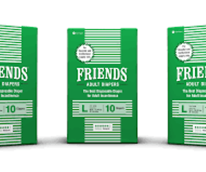 FRIENDS ADULT DIAPERS HOSPITAL PACKS 10 PCS LARGE