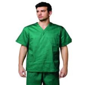 GREEN OT DRESS V NECK ( SCRUB SUIT )